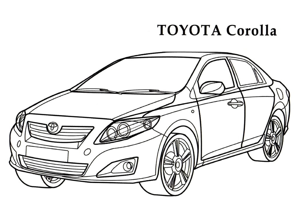 Toyota Corolla | HelloColoring.com | Coloring Pages - AZ Dibujos ...