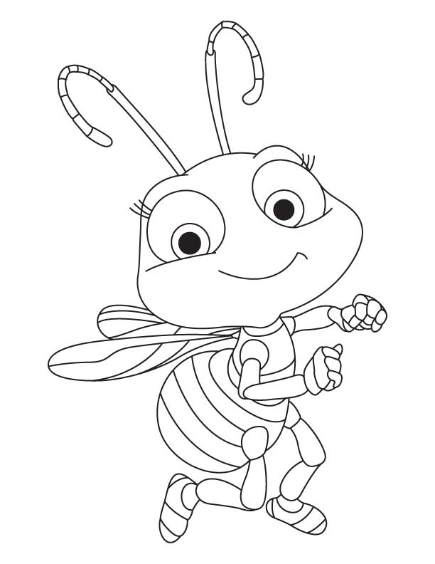 Honey Bee coloring page  Free Printable Coloring Pages