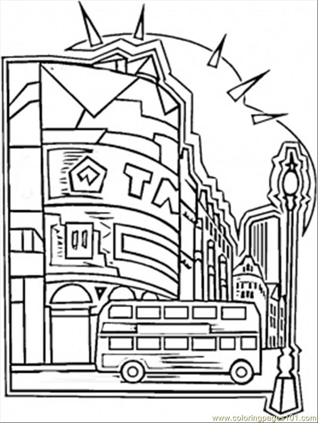 Coloring pages center of london countries great britain for Great britain flag coloring page
