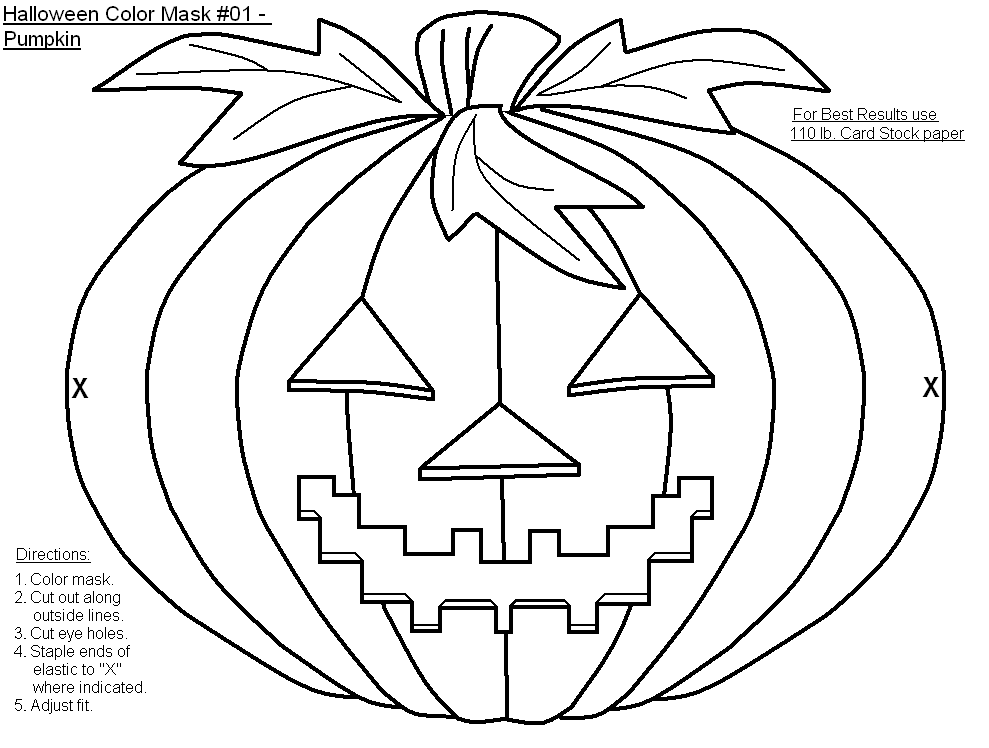 Coloring pages halloween masks ~ FREE Printable Halloween Masks-to-Color - Holiday Party ...