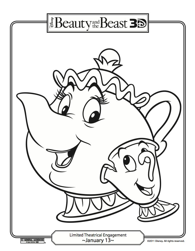 Fun stuff disney s beauty and the beast coloring pages carrie