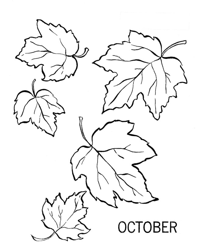 Free Dibujos October Coloring Pages October Coloring Page