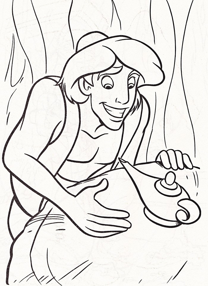 Aladdin And Magic Lamp Coloring