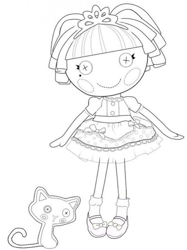 Your color az dibujos para colorear for Lalaloopsy free printable coloring pages