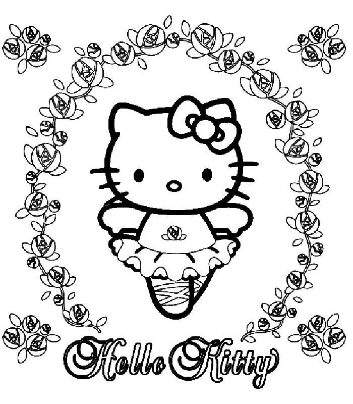 hello kit coloring pages - photo#23