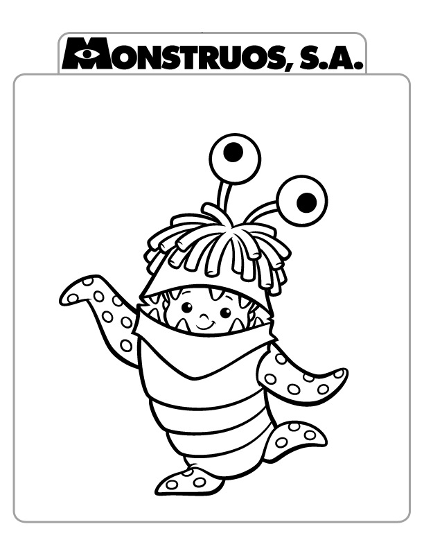 bebê monstro Colouring Pages